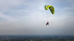 Paramoteur (Les pieds dans le vide) Tags: france sport aerialview paysage fr ulm paysdelaloire sucsurerdre paramoteur survol vuearienne