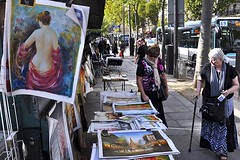 Posters by the Seine (AntyDiluvian) Tags: street trip paris france art seine nude stall vendor quai seller usedbook bouquiniste 2015