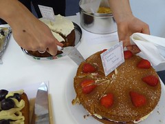Victoria sponge (JuliaC2006) Tags: cakes hands sponge