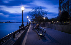 """The blue hour"" (Mahir Rafi) Tags: life new city nyc longexposure blue light sky newyork water night river landscape cityscape manhattan hudson calmness"