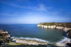 Thornwick Bay, Flamborough (MichikoSmith) Tags: uk blue sea england cliff beach water rock 30 canon eos bay long exposure yorkshire north stack east riding filter 6d thornwick flamborough secounds zomei