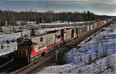 Westbound at Sunrise (ac1756) Tags: michigan 911 1978 sooline soo ge 809 gouldcity u30c soosubdivision