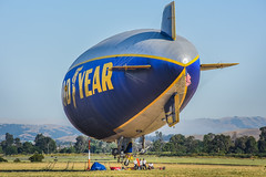 goodyear prepares for flight over the nba finals (pbo31) Tags: california color basketball june spring airport nikon finals bayarea blimp warriors eastbay livermore nba goodyear municipal alamedacounty 2016 boury pbo31 d810