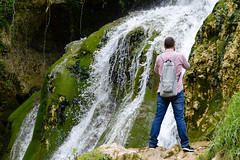 Be water my friend (jj2284) Tags: espaa naturaleza man nature waterfall spain wanderlust viajar cascada naturelover