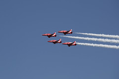 Red Arrows (DaveStrong) Tags: old uk blue red summer plane canon airplane united airplanes bedfordshire kingdom aeroplane planes arrows 5d arrow warden shuttleworth 70200 aeroplanes 70200mm 2016 70200f4 70200l southill 5dmarkii 5d2 5dii 5dmark2