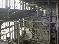 Boiler room (soho42) Tags: abandoned industry film industrial decay powerplant boilerhouse fujireala100 mamiya645protl