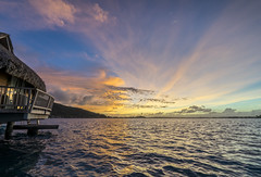 Bora Bora - Hotel - Sunrise over the lagoon-2 (Blandford502) Tags: ocean sunset sea sky water clouds seaside honeymoon outdoor side dream lagoon borabora frenchpolynesia sony2470 sonya7ii