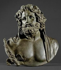 Bust of Jupiter Roman, Empire First - 2nd Century AD, after Greek model of the 2nd Half of the 4th Century. BC Bronze, hollow casting (mike catalonian) Tags: portrait sculpture male bronze bust empire jupiter ancientrome greekmodel iiicenturyad