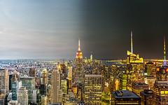 Day To Night NYC (pascoemorrissey) Tags: world new york city nyc newyorkcity travel panorama newyork skyline skyscraper buildings timelapse insane amazing nikon downtown cityscape photographer manhattan empirestate rockefeller epic hdr cityview d800 wonderlust