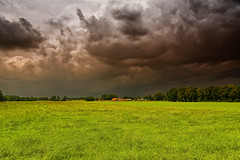 Oops, You Better Run! (Alfred Grupstra Photography) Tags: sky grass clouds landscape nederland thunderstorm nl overijssel tubbergen