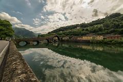 Devil's Bridge (gionatatammaro) Tags: trees italy alberi clouds montagne nikon italia nuvole lucca toscana acqua riflesso reflexes toscany pontedeldiavolo allaperto