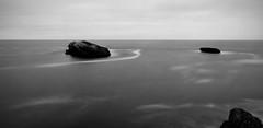 Black mood (VB31Photo) Tags: ocean sea sky blackandwhite white black nature monochrome rock landscape mono rocks long exposure mood moody time minimal minimalism minimalist endless waterscape vb31photo