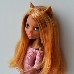 DSC_0382 (Xeniya_) Tags: wolf doll ooak tan blond custom mattel repaint clawdeen monsterhigh clawdeenwolf ooakmonsterhigh ooakclawdeen