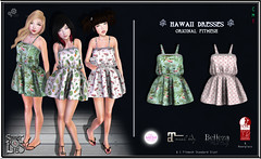 Hawaii Dresses #3 Pack - Sweet Lies Original (Sweet Lies - LIES FACTORY GROUP) Tags: summer girl fashion hawaii dress maya mesh avatar clothes sl secondlife second blender chic trend standard boho chapter bodies belleza tmp lindenlabs maitreya slink sweetlies fitmesh thechapterfour sweetliesoriginal
