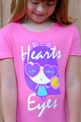 """Hearts In My Eyes"" Lolligag T-shirt (Lolligag World) Tags: cute fashion hearts kawaii tee lolligag kidstees"