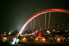 Rainbow Bridge (Thomas T. H. Chan) Tags: bridge film 50mm voigtlander taiwan rangefinder taipei konica   asph nokton rf rainbowbridge hexar f15 xtra aspherical  mmount