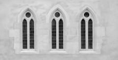 Windows Trinity (isobrown) Tags: windows white 3 black window museum architecture circle noir dominican arch medieval et blanc arche unterlinden