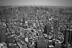 NYC Skyline (Paal Tonne) Tags: world new york city nyc bw usa white ny black never apple that one design us photo big united center og observatory states sleeps tonne paal paaltonnecom