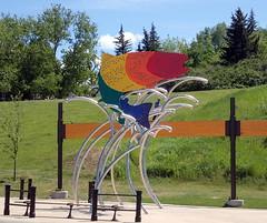 Rainbow Trout by Jeff deBoer uncle from Holland (LUMIN8) Tags: publicart calgarystampede rainbowtroutbyjeffdeboer