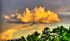 Look up to the sky sometimes (mbfirefly) Tags: nature colors clouds wonder amazing rainbow shy drama hdr 3fhdr