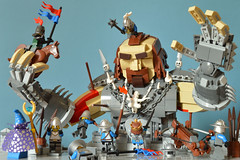 Big Trouble (paddybricksplitter) Tags: lego castle giant