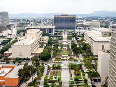 Los Angeles (Anthony's Olympus Adventures) Tags: los angeles city hall california losangeles view cityscape streetscape downtown observationdeck usa america civicpark park