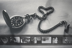 a page of my book for my son (L. Paul) Tags: blackandwhite time chain negatives pocketwatch sony28mmf2 sonya6300