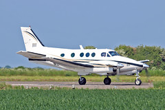 """N200RE Beech E90 King Air Gray Aviation Inc Sturgate Fly In 05-06-16 (PlanecrazyUK) Tags: sturgate egcs """"fly in"""" 050616 """"lincoln aero club ltd"""" n200re beech e90 king air grayaviationinc fly in"""