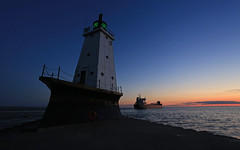 Ludville Sunset (GLC 392) Tags: light sunset sun lighthouse house lake set mi river michigan ss lakes grand company manitoulin lower llc pere navigation marquette lmc ludington buttersville