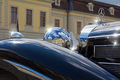 Baroque Reflections (FocusPocus Photography) Tags: auto reflection car mercedes benz classiccar vintagecar vehicle oldtimer spiegelung ludwigsburg automobil retroclassicsmeetsbarock 540k