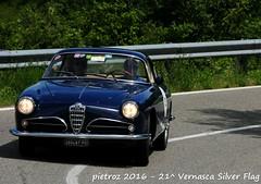 DSC_6575 - Alfa Romeo 1900 C SS - 1956 - Di Bello Aldo - VCC Padova (pietroz) Tags: silver photo foto photos flag historic fotos pietro storico zoccola 21 storiche vernasca pietroz