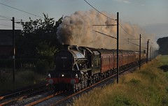 Steam at Sunrise (garstangpost.t21) Tags: manchester lancashire brock carnforth 45690 5z80 class5xp emptystockmove