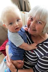 William and his Gran (Jon Pinder) Tags: baby canon powershot caravan s100 230616