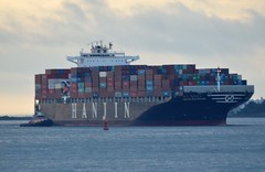 Hanjin Baltimore (jelpics) Tags: hanjinbaltimore cargoplane containership hanjin merchantship tug tugboats boston boat bostonharbor bostonma harbor massachusetts ocean port sea ship vessel
