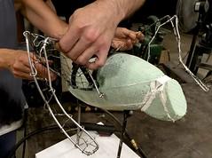 6-28-16 Sea Gull Armature detail (Kruvczuk1) Tags: armature foam hands wire