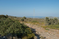 (Psinthos.Net) Tags: road light sea summer sunlight mountains nature leaves june rock stone countryside rocks afternoon view stones top branches chapel shrubs seaview sunnyday panoramicview ruralroad       psinthos  agiaparaskevi    agiaparaskeui                agiaparaskeuvi