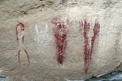 Pictographs at Caon Pintado (Ron Wolf) Tags: archaeology colorado nativeamerican anthropology blm pictograph anthropomorph anthromorph barriercanyon canyonpintado