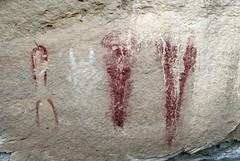 Pictographs at Cañon Pintado (Ron Wolf) Tags: archaeology colorado nativeamerican anthropology blm pictograph anthropomorph anthromorph barriercanyon canyonpintado