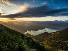 Walchensee Sunset (F!o) Tags: sunset mountains bayern outdoor berge alpen sonnenaufgang walchensee kochelsee em1 gnd biwak grauverlauffilter raymasters
