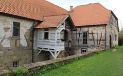 Bedheim castle (Linda6769 (OFF)) Tags: castle germany village thuringia porch flowerbox bedheim