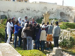 5 May 2013 - Visit to Christian and Jewish cemeteries with young people 8 (High Atlas Foundation) Tags: cemeteries heritage cemetery tolerance jewish coexistence essaouira cultural preservation fha haf communitydevelopment civilsociety sustainabledevelopment jewishmuslim capacitybuilding participatorydevelopment highatlasfoundation
