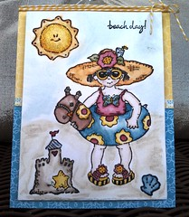 Beach Day Card (paperpipedreams) Tags: summer beach swim watercolor toddler stamp card sandcastle pennyblack beachday timholtz distressmarker