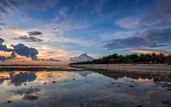 Sunset over Gili island (jeff_006) Tags: sunset sea sky people bali cloud holiday seascape color reflection beach water indonesia landscape island sand olympus gili lombok omd 918 f456 em5 flickrsfinestimages1
