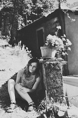 Summertime. (SerenaAndHerSoul) Tags: summer portrait blackandwhite selfportrait love home girl self myself countryside portraiture summertime