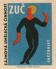 czechoslovakian matchbox label (maraid) Tags: art dance dancing czech label performance arts packaging matchbox czechoslovakia czechoslovakian zuc thearts jazzballet sololipnik jazzbalet