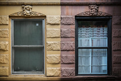 Twins (mistergalaxy) Tags: nyc windows two newyork architecture diptych unitedstates manhattan westvillage canonef24105mmf4lisusm canon6d