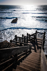 The Sea Ranch (Spiros Vathis) Tags: california wood sea sky stair unitedstates wave  thesearanch