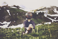 One's mind may travel while his body is still (joshuamalik) Tags: photography 50mm nikon earth joel 14 josh mount rainier concept conceptual malik tones d800 robison joshuamalik