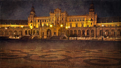Plaza de España al estilo oleo