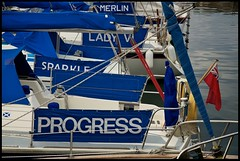 Merlin Lady Sparkle Progress (4oClock) Tags: blue sea green water marina docks boats coast scotland fishing nikon sailing harbour north scottish sail moray findochty harbours d90 18105mm